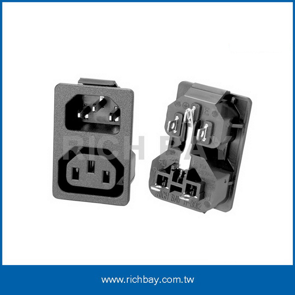 IEC C13+C14 插座